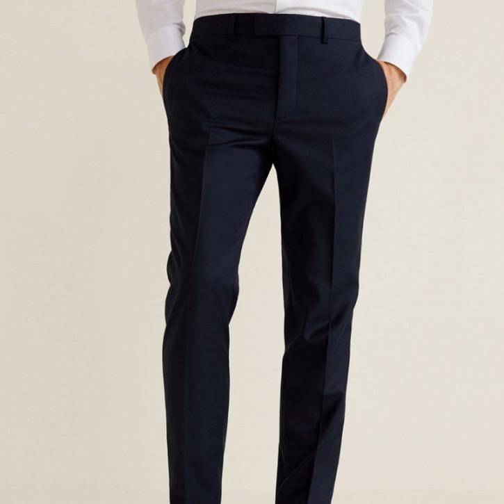 Suit pants super-slim structured