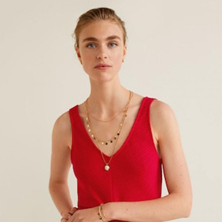 Textured top fashion woman